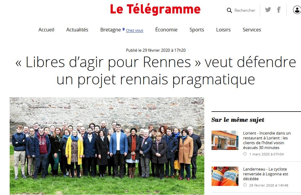 Revue de Presse – Le Télégramme