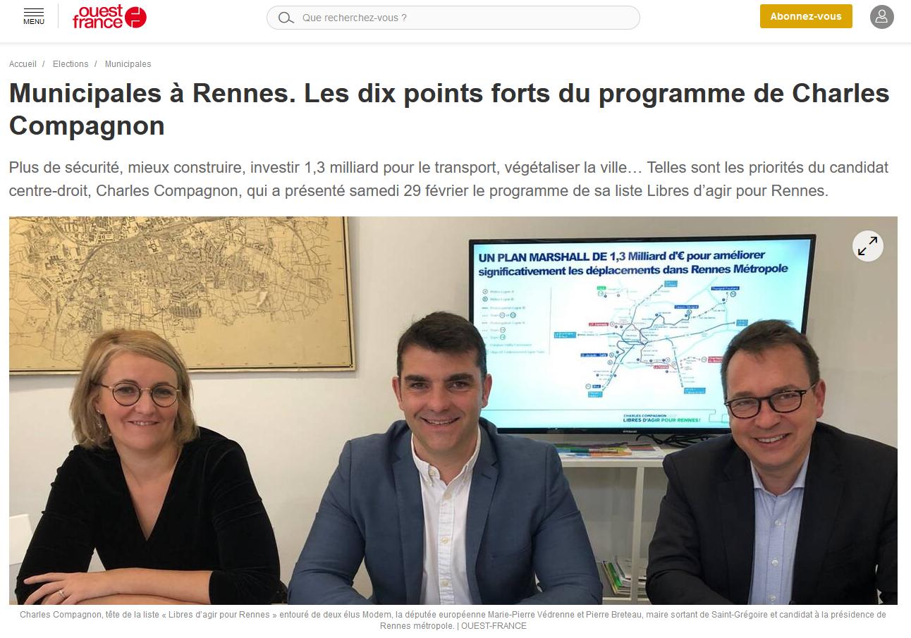 Revue de Presse – Ouest-France